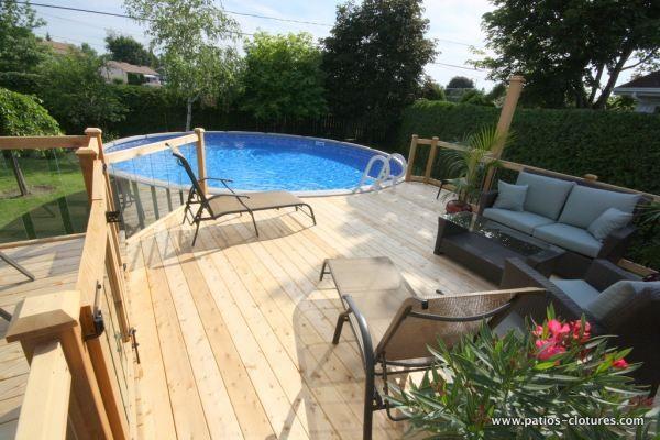 deck de piscine hors terre sainte th r se project. Black Bedroom Furniture Sets. Home Design Ideas