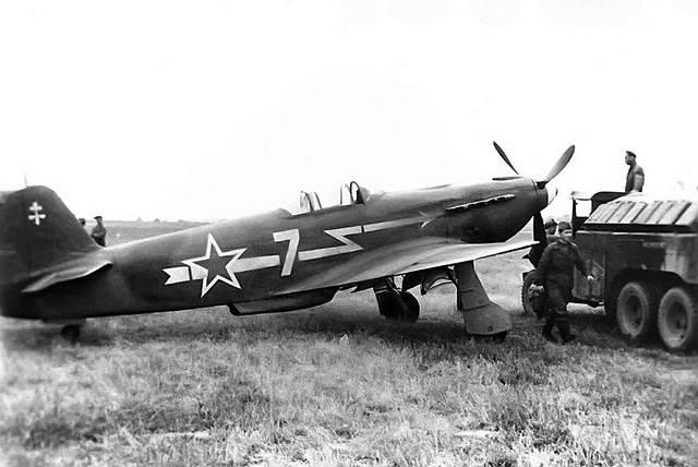 Soviet Yak-3 fighter. Flown on the eastern front by the Free French Regiment Normandie-Niemen.