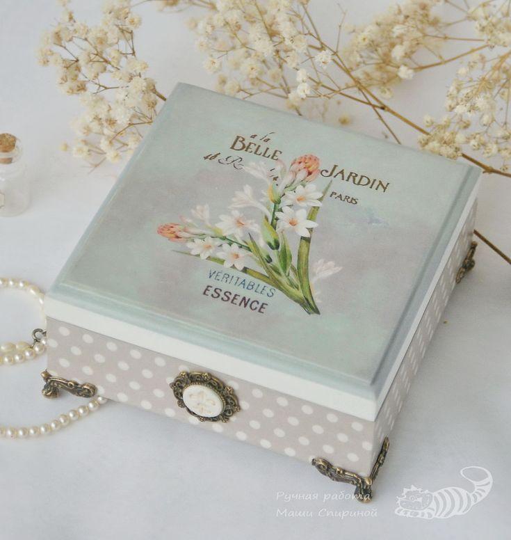 """Купить Шкатулка для украшений """"Belle jardin"""" (Прекрасный сад) - шкатулка, ретро, подарок женщине"""