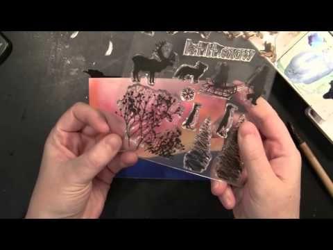 VIDEO TUTORIAL: Creating winter watercolor scenes using Penny Black stamps