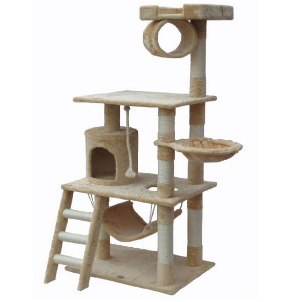 $87 - Beige Cat Playhouse - www.cattreehouseshop.com