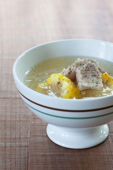とうもろこしと豚バラのスープ | ゆりり亭 *~料理もお酒も無手勝流~* 20150809トウモロコシと豚バラ肉のスープ.jpg