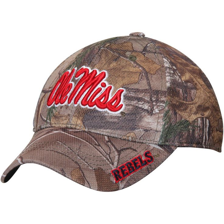 Ole Miss Rebels Top of the World RealTree Extra Memory 1Fit Flex Hat - Camo