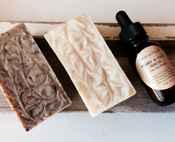 Men's Beard Oil Serum & Soap x2  Gift Set. by PureHavenNaturals