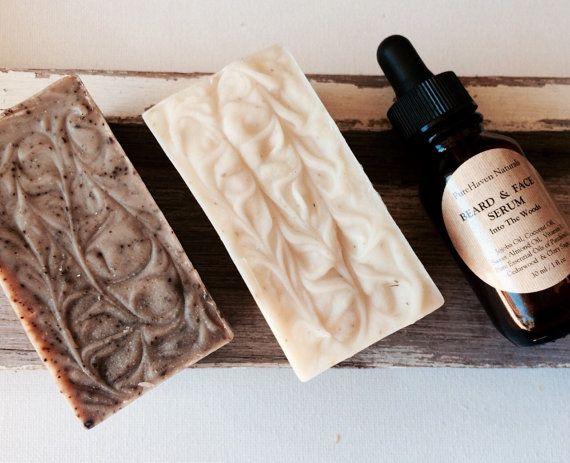 Men's Beard Oil Serum & Soap x2  Gift Set. by PureHavenNaturals