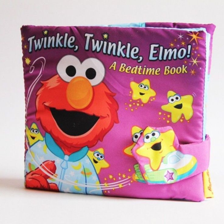 Goodnight Babies 3D Washable Cloth Book Twinkle Elmo Babies BedTime #Unbranded