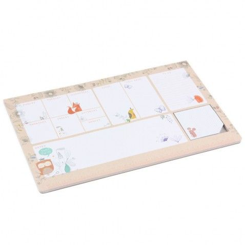 Dreamscape desk pad with sticky notes
