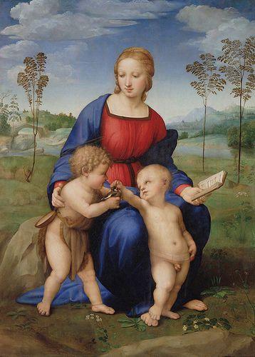 Madonna Del Cardellino Autore:Raffaello Data:1506 Dove:galleria Degli Uffizi,Firenze