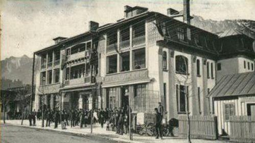 Busteni - Marele Hotel Caraiman (actual spital orasenesc) - interbelica