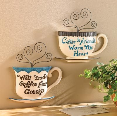 coffee themed decor | Coffee Break Wall Art Decor from Collections Etc.