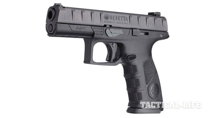 Beretta unveils its full-size, striker-fired APX semi-automatic in Abu Dhabi with plans to hit the commercial market later in 2015.