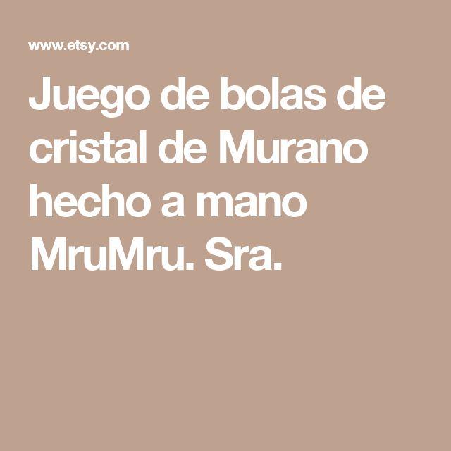 Juego de bolas de cristal de Murano hecho a mano MruMru. Sra.