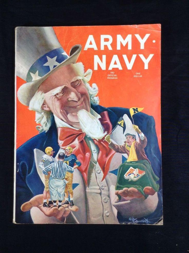 1957 ARMY vs NAVY PROGRAM COLLEGE FOOTBALL VINTAGE #NavyMidshipmen
