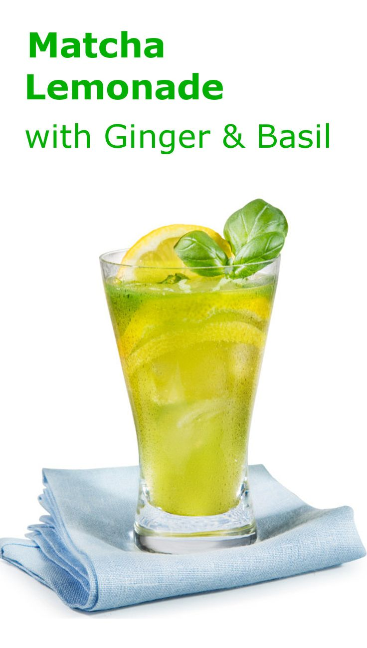 Fresh homemade Lemonade with Matcha, Ginger and Basil - Erfrischende Limonade selber machen mit Matcha, Ingwer und Basilikum. Macht wach, erfrischt von innen und prickelt schön auf der Zunge. Das Rezept zum Drink und warum Matcha Tee so gesund ist, erfahrt ihr auf www.matcha108.de