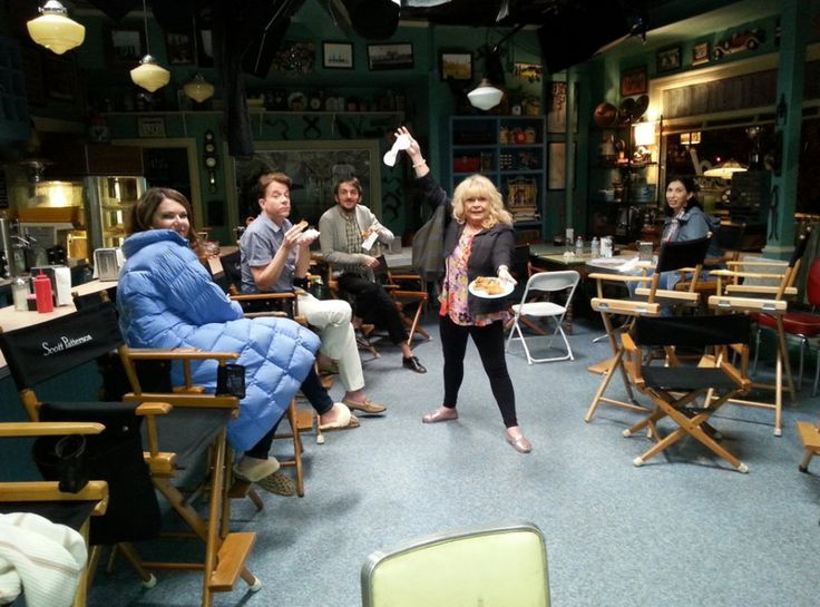 Actress Sally Struthers is on top form during filming