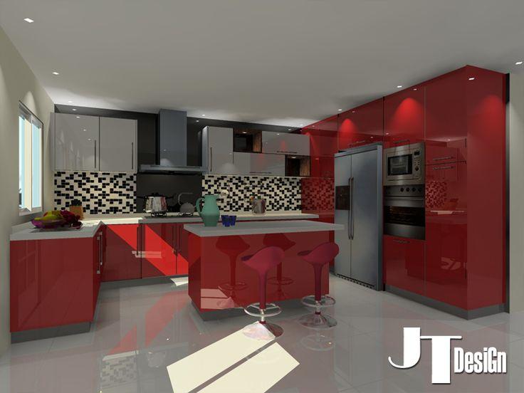 Acrylic Kitchen Cabinet Design 1