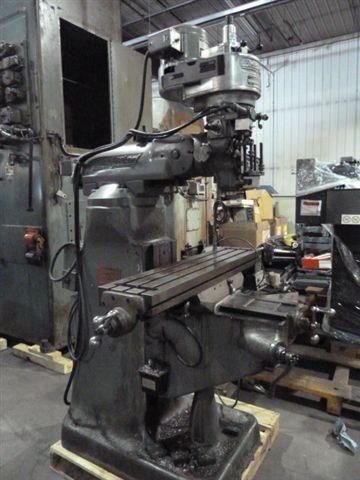 Bridgeport Mod 1j Vert Mill W Dro Power Feed Power Draw