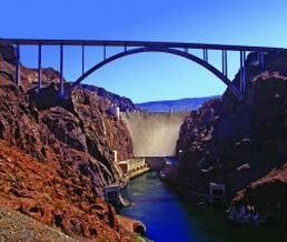 Hoover Dam..we watched this bridge being built from both sides of canyon for a year...absolutely amazing!
