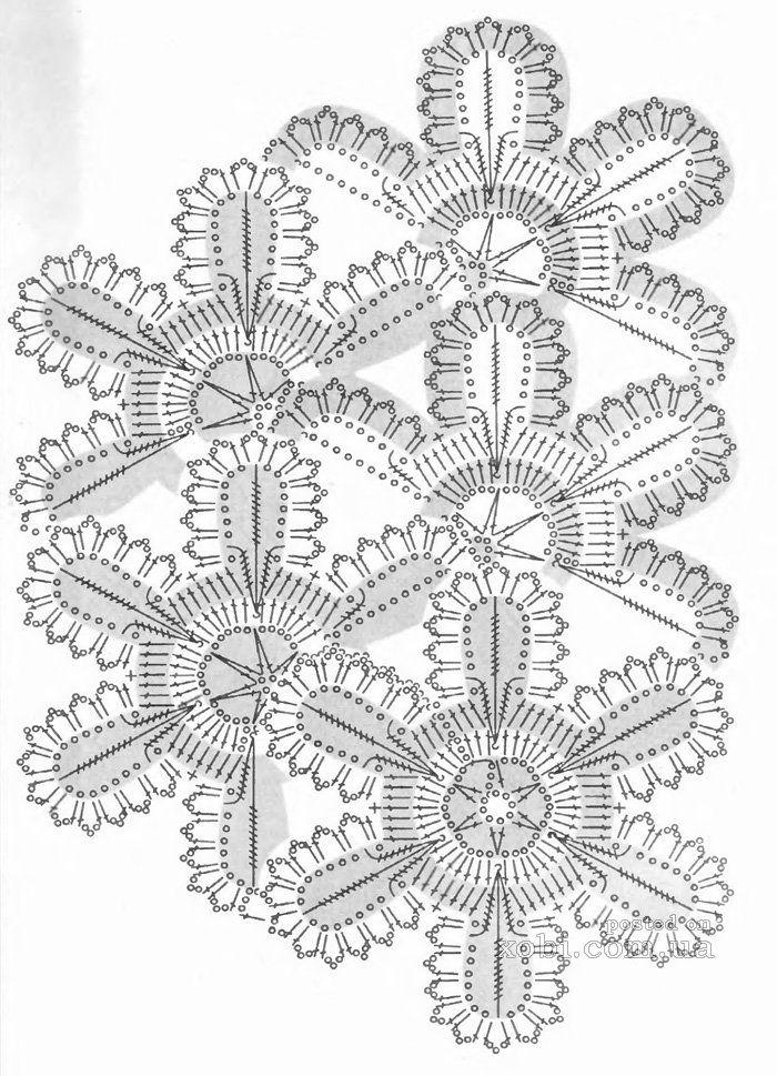 ленточное кружево 98 - схема вязания