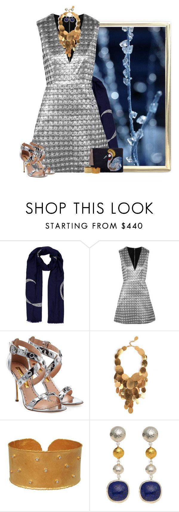 """sparkle & shine"" by niteowlgirl ❤ liked on Polyvore featuring House of Waris, Alice + Olivia, Rupert Sanderson, Hervé Van Der Straeten, Marika and Gurhan"