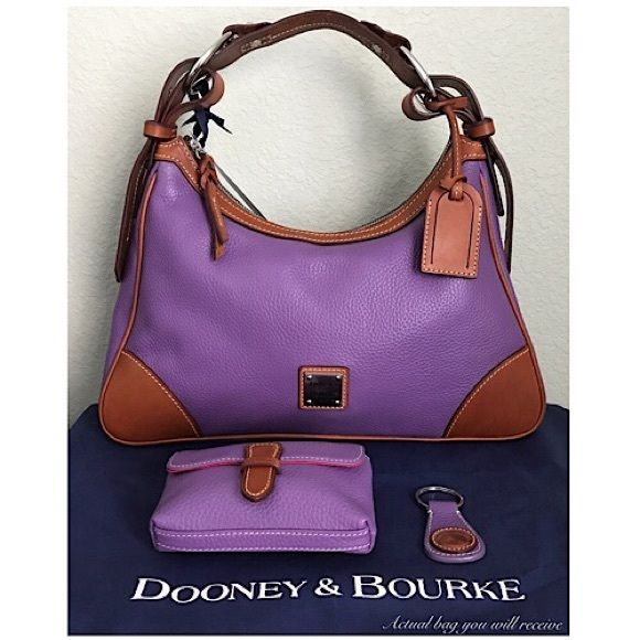 Dooney & Bourke Handbags - Dooney & Bourke Leather Harrison Hobo Bag, Purple