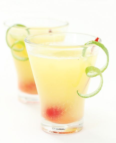 Key Largo Chill :: Makes 1 serving    Ingredients: 2 oz. pineapple juice •      2 oz. coconut water •      1 oz white rum •      2 oz spiced rum • Instructions: Place coconut water, pineapple juice, spiced rum, rum and lime juice in a cocktail shaker and shake well. Pour into chilled glasses. | More pastel inspiration here: http://mylusciouslife.com/prettiness-luscious-pastel-colours/