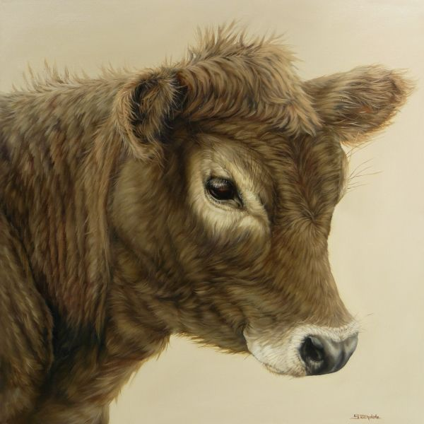 Gentle Calf by Margaret Stockdale  Just too cute to pass up.