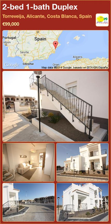 2-bed 1-bath Duplex for Sale in Torreveija, Alicante, Costa Blanca, Spain ►€99,000