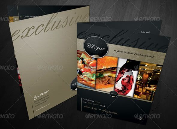 RW Premium Restaurant Menu Card Template