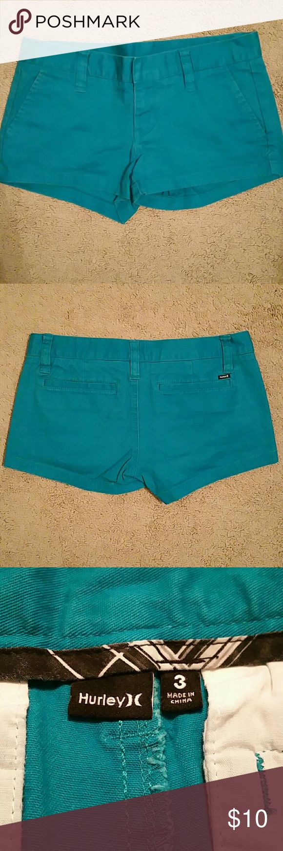 Hurley women's teal shorts Women's teal shorts Size 3 Hurley Shorts