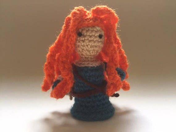 Merida Crochet DollHandmade Crochet dollMini Amigurumi Doll