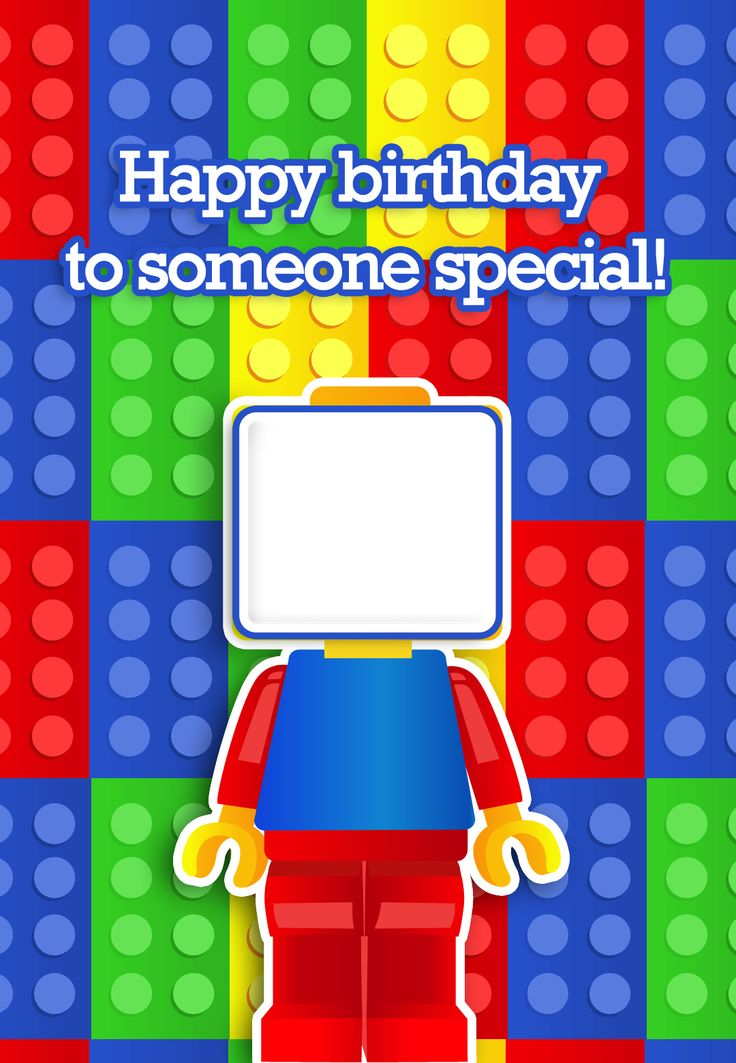 17 Best ideas about Lego Card – Lego Birthday Card