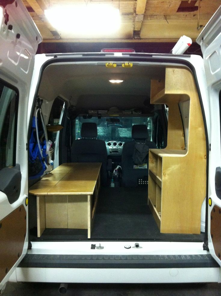 photo ford transit connect camper van diy flat pack kit. Black Bedroom Furniture Sets. Home Design Ideas