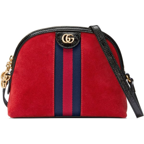 Gucci Ophidia Suede Shoulder Bag ($1,535) ❤ liked on Polyvore featuring bags, handbags, shoulder bags, red, women, zip shoulder bag, man bag, red handbags, handbag purse and red shoulder bag