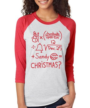 Another great find on #zulily! Heather Red Nightmare Before Christmas Equation Raglan Tee #zulilyfinds