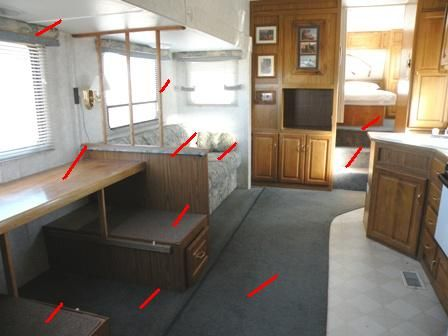 Doing the RV Remodeling Demolition of the existing RV Interior is the first step in an RV Remodel