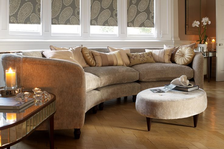 Curved Sofa Sofas And Laura Ashley On Pinterest