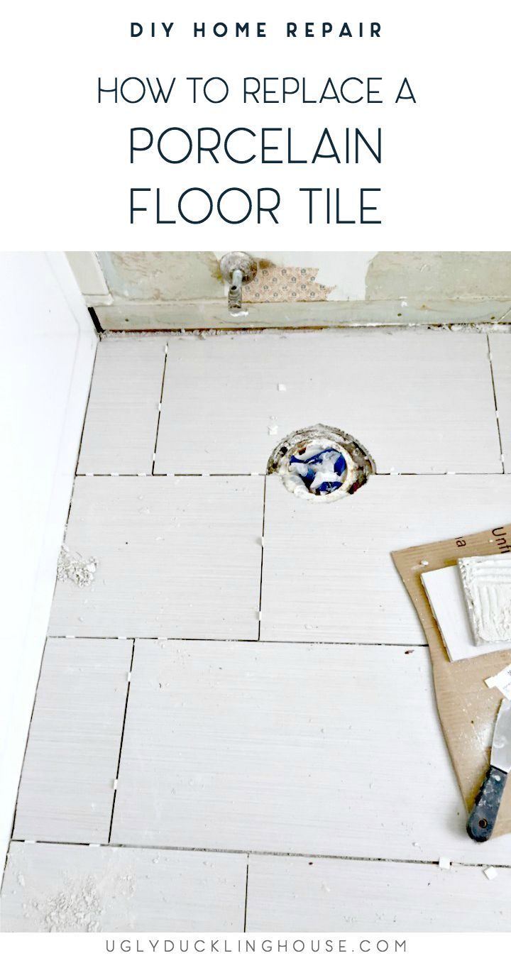 How To Replace A Porcelain Floor Tile Porcelain Flooring Porcelain Floor Tiles Tile Floor Diy