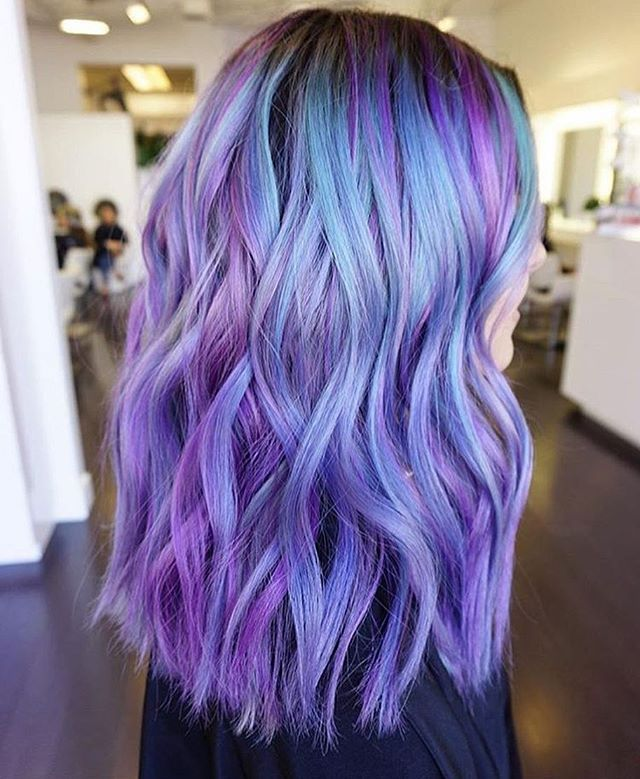 Purple Hair With Blue Highlights Www Pixshark Com