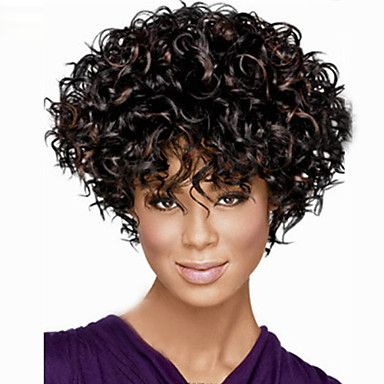 Europa e da moda de alta qualidade de alta qualidade a alta temperatura de seda cabelo sintético pequena onda peruca moda de 3291688 2016 por R$84,73