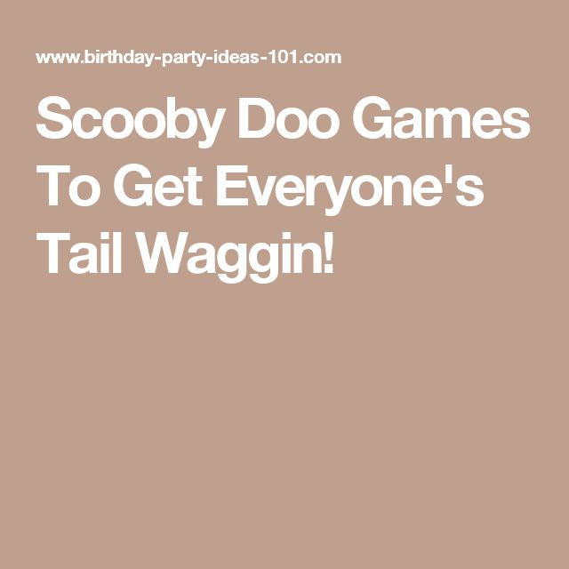 Scooby Doo Games To Get Everyone's Tail Waggin!