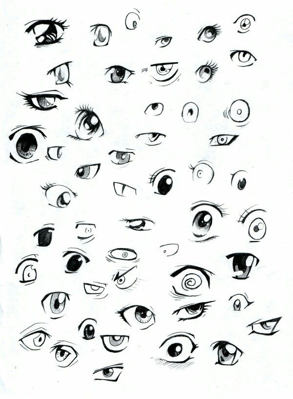 how to draw eyes sidewards