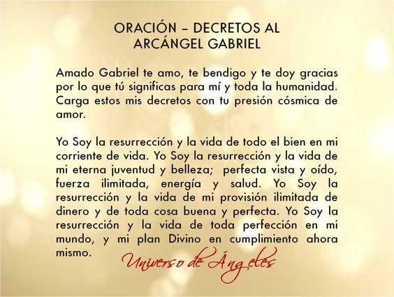 Resultado de imagen para decretos y afirmaciones al arcangel san gabriel