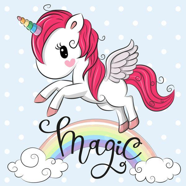 Download Cartoon Cute Unicorns Vectors Design 09 In Eps Format