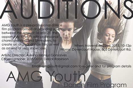 AMG Youth Dance Film Program Audition