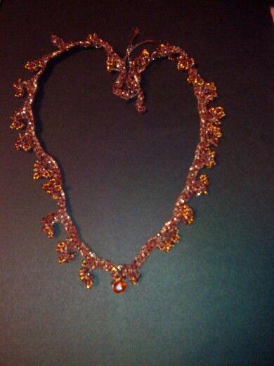 Collana corallo con perle