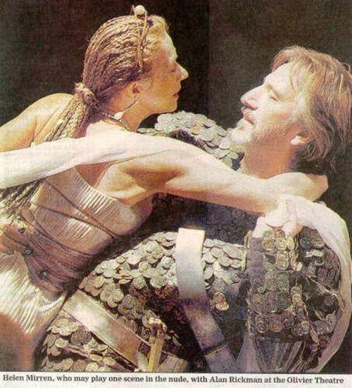 "1998 - Alan Rickman and Helen Mirren in ""Antony and Cleopatra."""