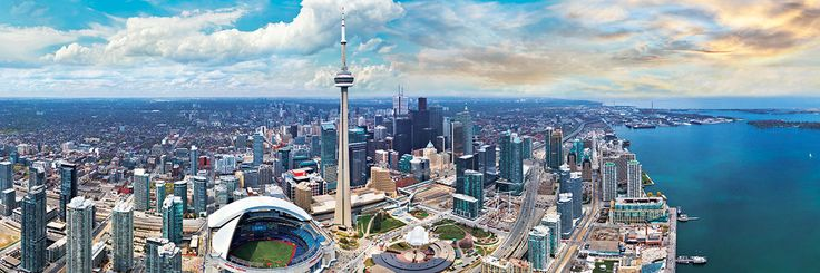 360º Panoramic photography. Toronto, Canada. 1000 pieces. 39 inches wide by 13 inches high.