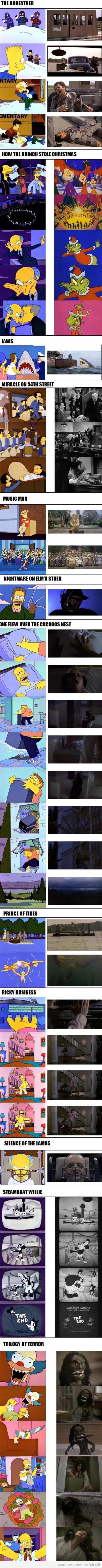 The simpsons movie parodies