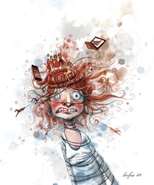 OM å resultar un perfekt være, Illustrasjon i Db Magasinet 2015Lisa Aisato - NORUEGA
